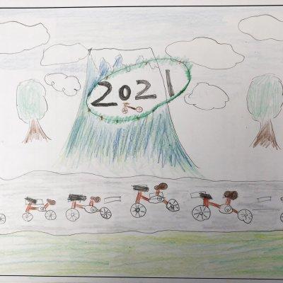 ならんだ自転車 ニセコ町立ニセコ小学校