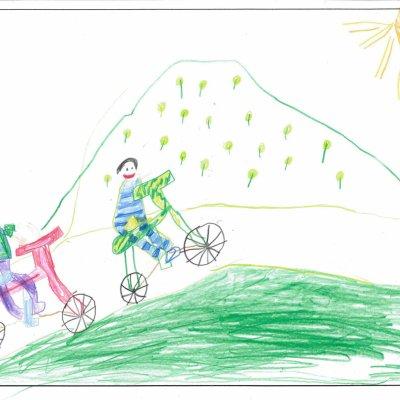サイクルレース 俱知安町立西小学校樺山分校