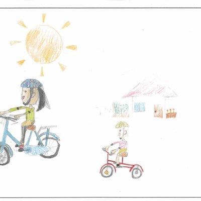 自転車で鬼ごっこ 蘭越町立蘭越小学校