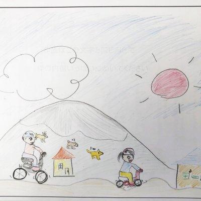 自転車リレー ニセコ町立ニセコ小学校