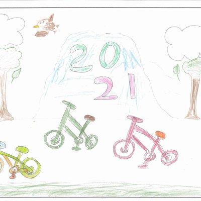 自転車レース ニセコ町立ニセコ小学校