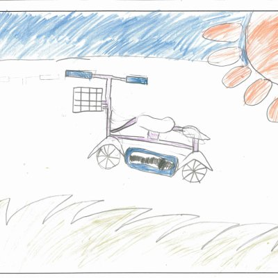 青い空と自転車 蘭越町立蘭越小学校