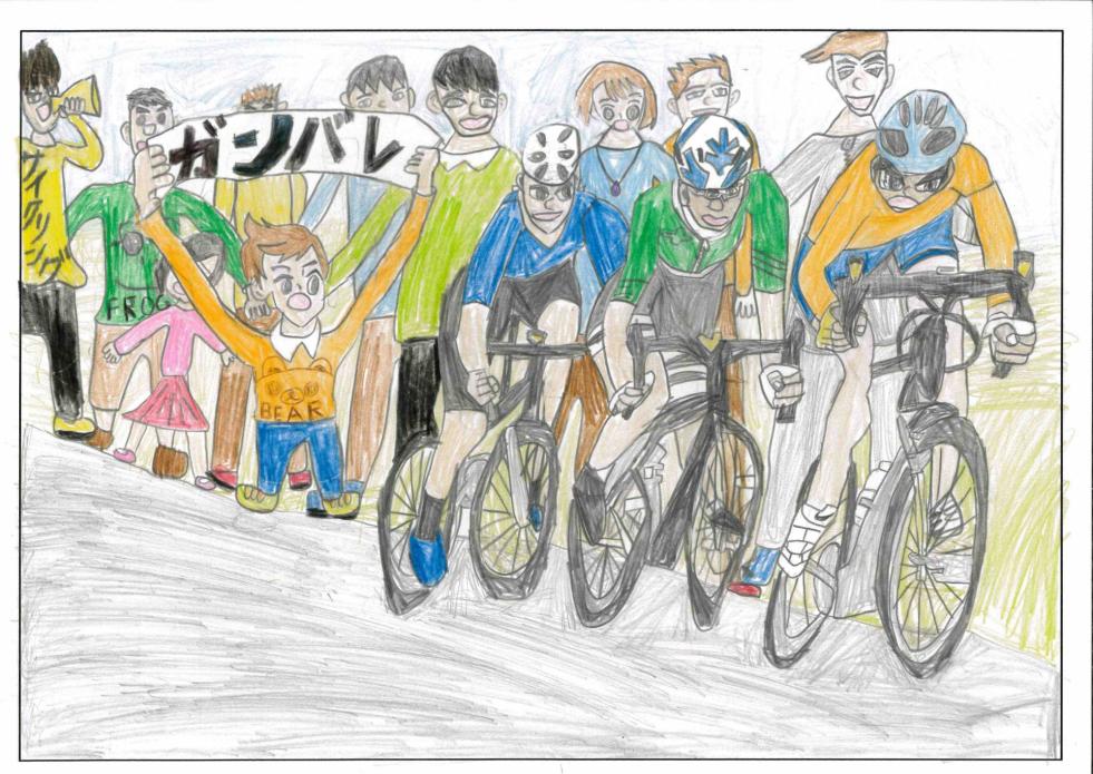 みんなでサイクリング 俱知安町立東小学校