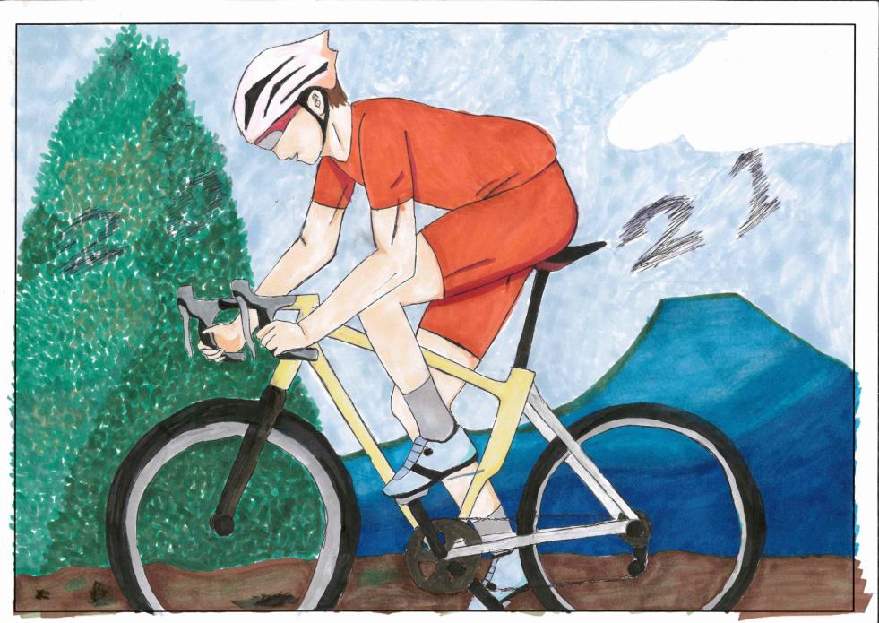 自転車 俱知安町立西小学校